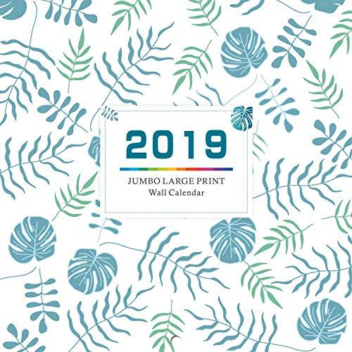 "2019 Monthly Wall Calendar - Calendar Planner 2019, 12"" x 24"" (Open), Thick & Sturdy Paper"