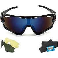 SLKIJDHFB Gafas de sol para ciclismo, deportes al aire libre, gafas de sol polarizadas con 2 lentes,…