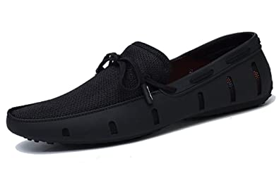 06d332357 Go Tour Mens Fashion Casual Boat Shoes Breathable Slip on Shoes Black 6.5/39
