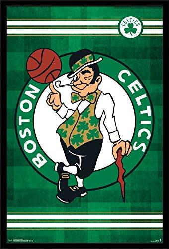 Trends International Wall Poster Boston Celtics Logo, 22.375 x - Framed Boston Celtics