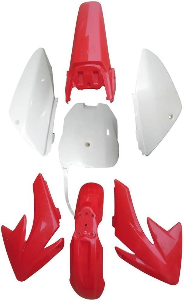 Black/&White Dirt Bike Replacement Plastics Fairing Kit Body Parts WPHMOTO Plastic Fenders For CRF70 CRF 70
