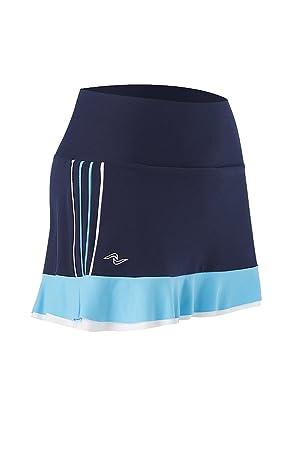Naffta Tenis Padel - Falda-pantalón para mujer, color azul marino/turquesa, talla XL: Amazon.es: Deportes y aire libre