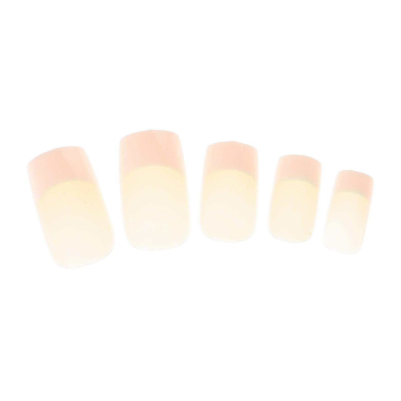 Claires-mujer-Lote De 24 largo clásicos manera French uñas para manicura, color rosa: Amazon.es: Belleza