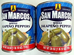 San Marcos Whole Jalapeño Peppers - 2 of 26 oz can