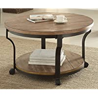 ACME Furniture 80460 Geoff Coffee Table, Oak & Black