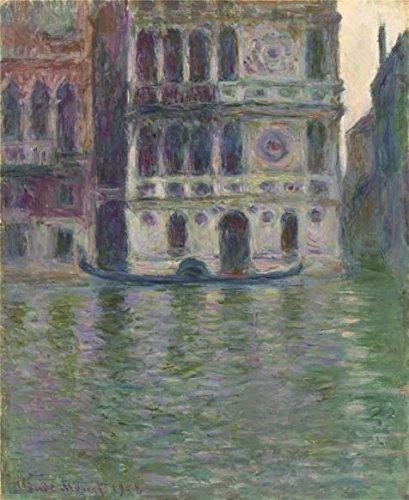 Oil painting ` Dario宮殿、ヴェネツィア、1908によってClaude Monet `印刷ポリエステルキャンバスに、10x 12インチ/ 25x 31cm、The Bestロビーアートワークとホーム装飾とギフトはこの最高価格アート装飾プリントキャンバスの商品画像