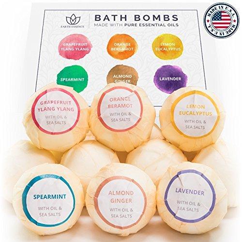 Bath Bomb Gift Set, 6 Pack - No Chemicals, No Mess Organic Bath Bombs - Lush & Nourishing - For...