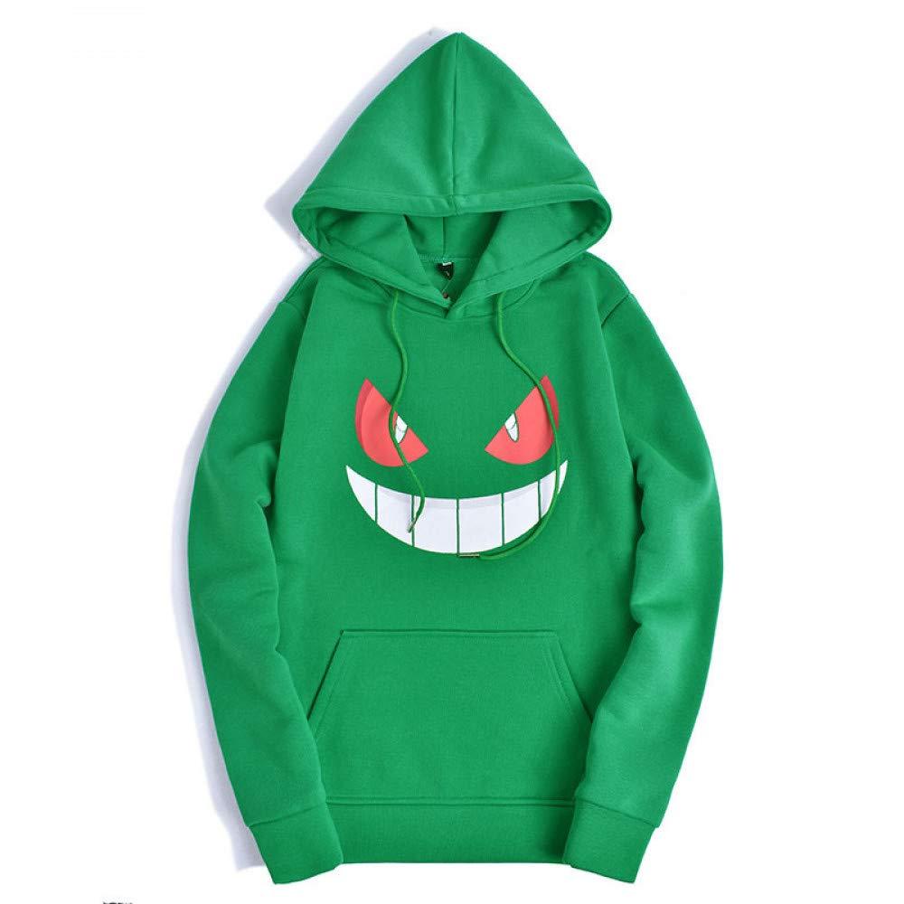 CHAOHAO@ 3D Kapuzenpullover Hooded Pullover 3D Männer Herbst und Winter Kreative Halloween Pullover Kürbis Grimasse Mit Kapuze Weihnachten Pullover