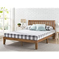 Zinus 12 Inch Wood Platform Bed with Headboard / No Box Spring Needed / Wood Slat Support / Rustic Pine Finish, Full