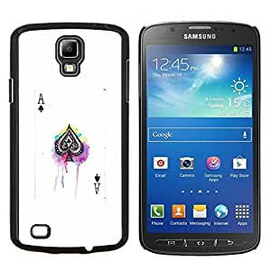 Dragon Case - FOR S4 Active I9295 (Do Not Fit S4) - ace spades poker game white black card - Caja protectora de pl??stico duro de la cubierta Dise?¡Ào Slim Fit