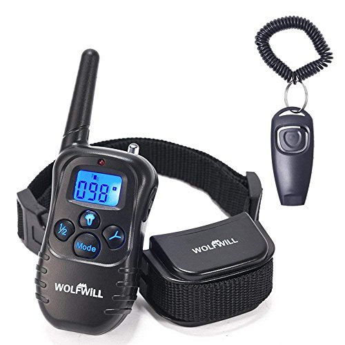WOLFWILL Pet Dog Training Collar,300 Yards Rechargeable & Rainproof with...