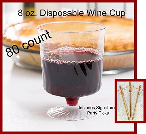 8 oz disposable wine glasses - 4