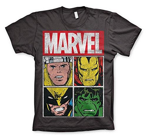 Marvel Comics - The Avengers Herren T-Shirt - Characters (Grau)