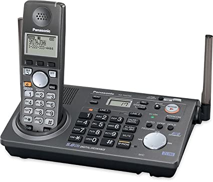amazon com panasonic kx tg6700b 5 8 ghz cordless phone two line rh amazon com Panasonic Cordless Phones Panasonic Phone Manual KX-TGA402