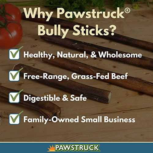 7 straight bully sticks for dogs large thickness 25 pack import it all. Black Bedroom Furniture Sets. Home Design Ideas