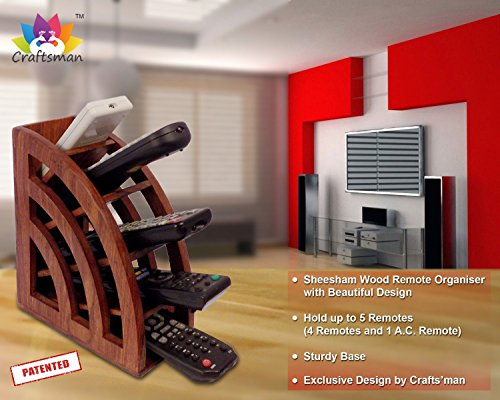 Craftsman 8 Drawer (Crafts'man Beautiful Wooden Multi Remote Control Holder/stand/organizer/rack. Remote Holder, Remote Stand, Organiser, Centre Table Art. home decorations for living room.. Remote Holder)