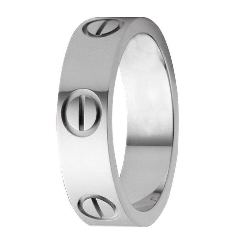 FHMZ Love Ring-Silve Lifetime Just Love You 6MM in Width Sizes 5