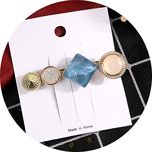 Round Crystal Alloy Hair Clips Macaron Color Barrettes Bb Phairpfor Women Girls Hair Accessories,Fja019A