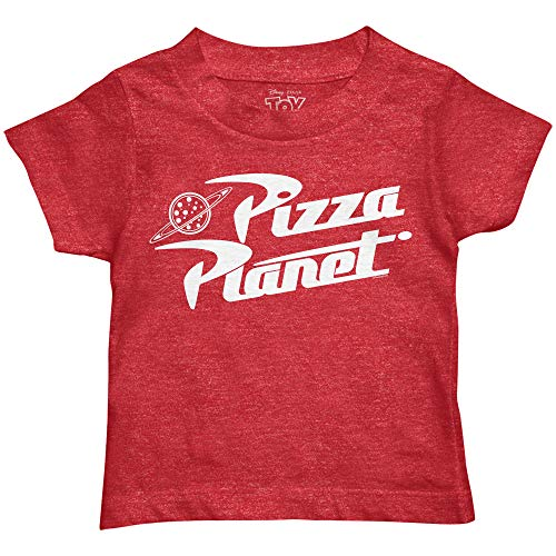 Disney Pixar Toy Story Pizza Planet Boys Toddler Juvy Humor Funny Tee T-Shirt(Heather Red,Small)
