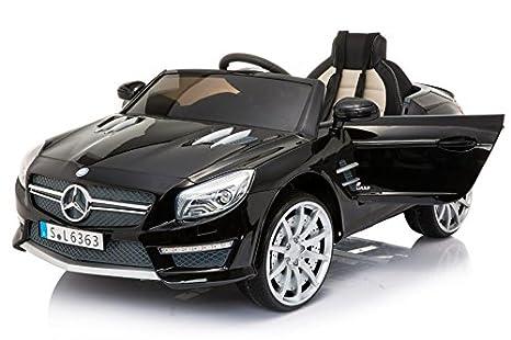 Mercedes-Benz SL63 AMG, Negro, producto BAJO LICENCIA, con mando a distancia 2.4Ghz, ruedas EVA suaves: Amazon.es: Bebé
