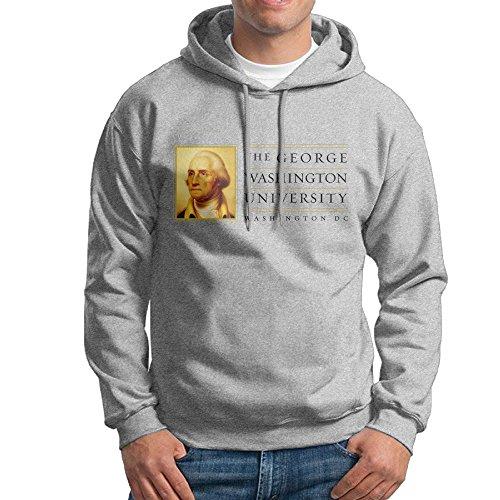 Price comparison product image FUOALF Mens Pullover George Washington University Hooded Sweatshirt Ash XXL
