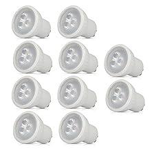 10 Pack MR16 GU10 LED Daylight Bulbs 30W Halogen Equivalent NON-Dimmable LED Bulb 3W 3000K AC120 Volt LED Light 120 Degree Beam Angle