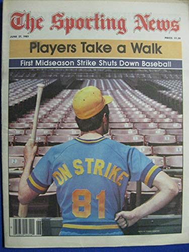 (1981 The Sporting News June 27 Midseason Strike Shuts Down Baseball Near-Mint)
