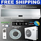 Amvent 24000 BTU 2 Ton Ductless Wall Mount Mini Split Air Conditioner + Heat Pump AC Cooling System Unit