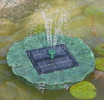 Schwimmende Solarpumpe / Springbrunnen / Seerose AMSTERDAM 120 / 3 Jahre  Garantie!