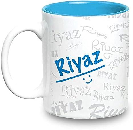 Riyaz Name Gift Ceramic Inside Blue Mug Gifts For Birthday: Amazon