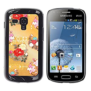 MOBMART Carcasa Funda Case Cover Armor Shell PARA Samsung Galaxy S Duos S7562 - Colored Bouquets Of Flowers