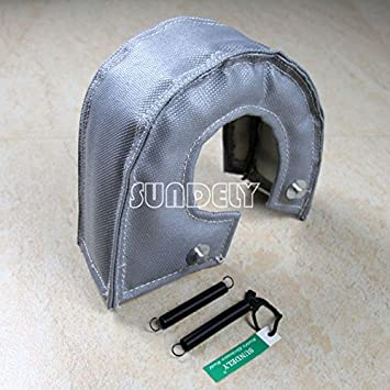 Amazon.com: SUNDELY Gray Color T3 T25 T28 GT25 GT35 Turbo / Turbocharger Blanket Cover Heat Wrap Shield Kit with Fastener Springs: Automotive
