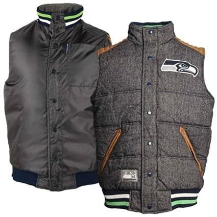 best cheap 7d79a 60e5a G-III Sports Seattle Seahawks Legacy Button-Up Reversible Vest - NFL  Football Team Apparel