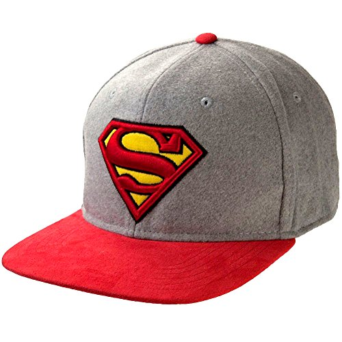 DC Comics Superman Logo Felted Wool Snapback Hat
