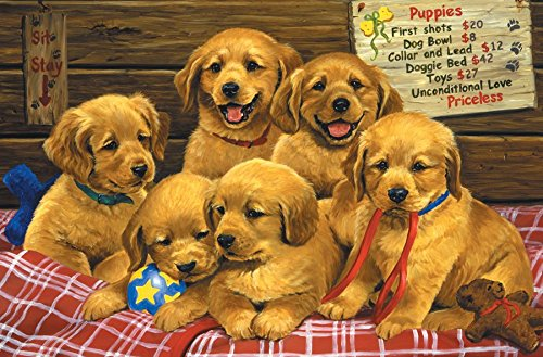 Priceless Puppies 60 Piece Sequenced Jigsaw Puzzle for Dementia and Alzheimer's