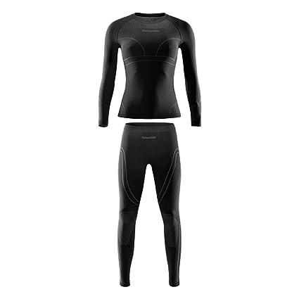 Ropa Interior Térmica Delgada para Mujer Esquí Juegos Al Aire Libre Función Wicking Secado Rápido Ropa