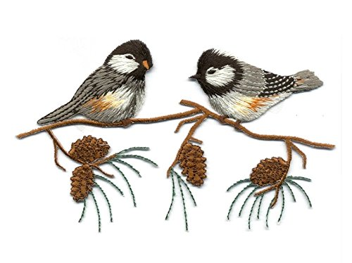Arti Chickadee On A Branch - Pine Cone - Bird - Iron On Applique ,, Ship From USA Fast Delivery ...