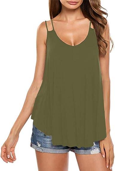 Farmerl Blusa de Verano Casual con Cuello en V para Mujer - Verde - 5X: Amazon.es: Ropa y accesorios