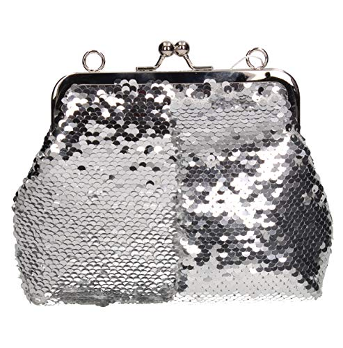 2 Silver SWANKYSWANS Sequin Party Bag Prom Clutch Way Britney Womens 5zqv74