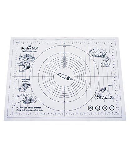 R&M International 2779 Silicone 19 inch x 25.5 inch Pastry Mat