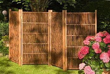 Noor Weiden Paravent 180 X 180 Cm 3teilig Amazonde Garten