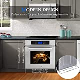 """Single Wall Oven, GASLAND Chef ES611TS 24"""" Built-in Electric Ovens, 240V 3200W 2.3Cu.f 11 Cooking Functions Convection Wall Oven with Rotisserie, Digital Display, Touch Control, Stainless Steel Finish"""