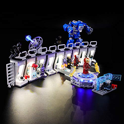 Compatible with Lego 76125 Building Blocks Model BRIKSMAX Led Lighting Kit for Iron Man Not Include The Lego Set
