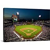 "Panoramic Images Premium Thick-Wrap Canvas Wall Art Print Entitled Panoramic View of 29,183 Baseball Fans at Citizens Bank Park, Philadelphia, PA 18""x12"""