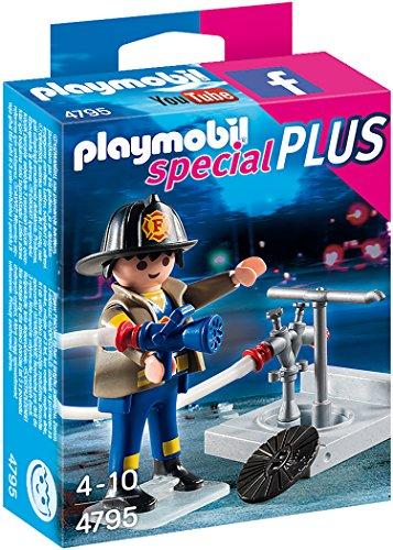 Playmobil-4795-Playmobil-Bombero-con-boca-de-incendios-4795