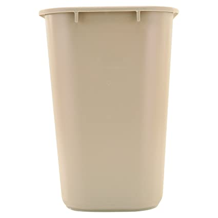 Amazon Com Rubbermaid Commercial Plastic 7 Gallon Trash Can Beige