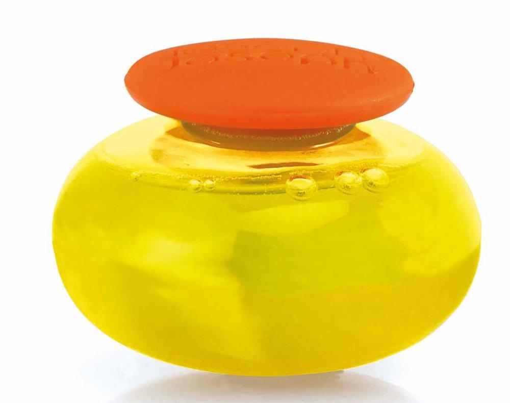 Joseph Joseph Soapy-Sponge Scouring Sponge with Soap-Dispensing Capsule Orange