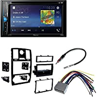 Metra 99-6516B Single/Double DIN Mounting Kit with OEM Bezel for 2005-07 Chrysler 300 Vehicles + Pioneer AVH-200EX Multimedia DVD Receiver with 6.2 WVGA Display, and Built-in Bluetooth