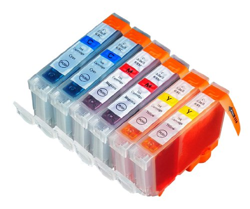 6 Pack Compatible Canon BCI-3 , BCI-3E , BCI-6 2 Cyan, 2 Magenta, 2 Yellow for use with Canon BJC-3000, BJC-6000, FAX-C855, MultiPASS F30, MultiPASS F50, MultiPASS F60, MultiPASS F80, MultiPASS MP700, MultiPASS MP730, PIXMA iP3000, S400, S450, S500, S520, S530D, S600, S630, S750, i550, i560, i850, BJC-8200, PIXMA iP6000D, S800, S820, S820D, S830D, S900, S9000, i900D, i9100, i950, i960, PIXMA iP8500, i9900,i860, PIXMA iP4000, PIXMA iP4000R, PIXMA iP5000, PIXMA MP750, PIXMA MP760, PIXMA MP780. Ink Cartridges for inkjet printers. BCI-6-C / BCI-3-E-C , BCI-6-M / BCI-3-E-M , BCI-6-Y / BCI-3-E-Y © Blake Printing Supply