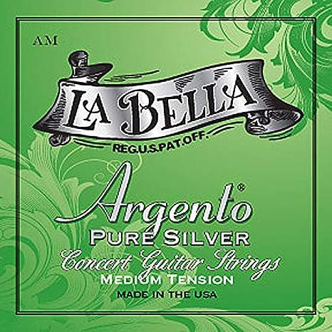 La Bella Argento Pure Silver AM, Medium, cuerdas para guitarra ...